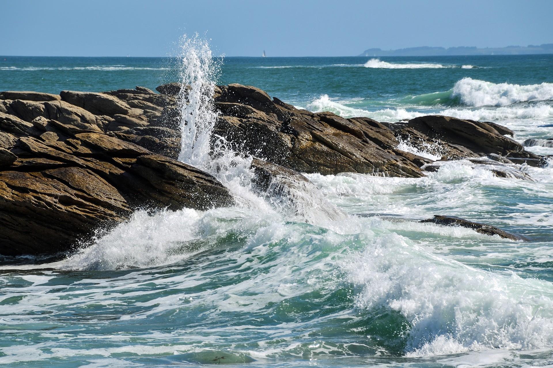 Ruwe zee Bretagne